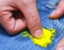как убрать краску с брюк