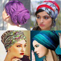 платок  по мусульмански с драпировкой