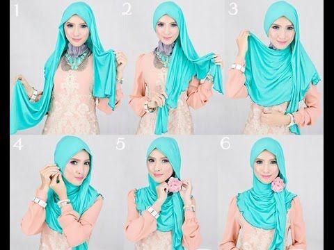 как завязать платок на никах по мусульмански