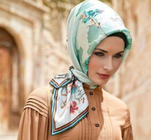 платок по мусульмански коробочка