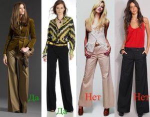 длина женских брюк