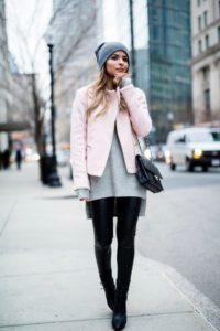 объемный серый свитер
