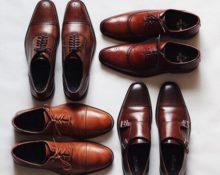 с чем носить коричневые мужские туфли фото
