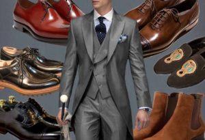 Стильный образ мужчины с туфлями всех цветов