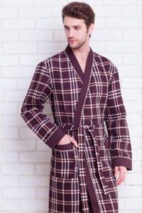 Мужской халат с запахом