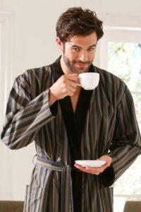 Фасон мужского халата с запахом