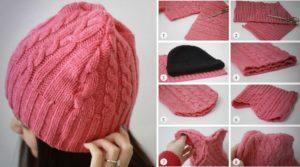 Как сделать шапку из свитера