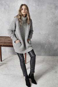 объемный свитер — модный в 2018