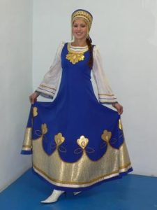 Синий сарафан