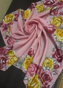 платок цвета пыльной розы