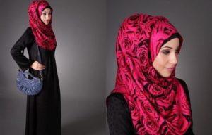 малиновый платок по мусульмански