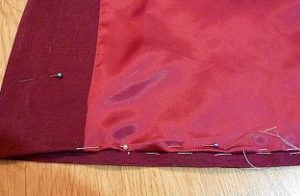 Подшивание подкладки