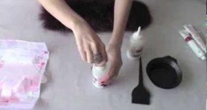 покраска шубы краской для волос