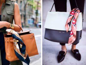 шелковый платок на сумке