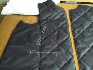 Сборка полочек куртки
