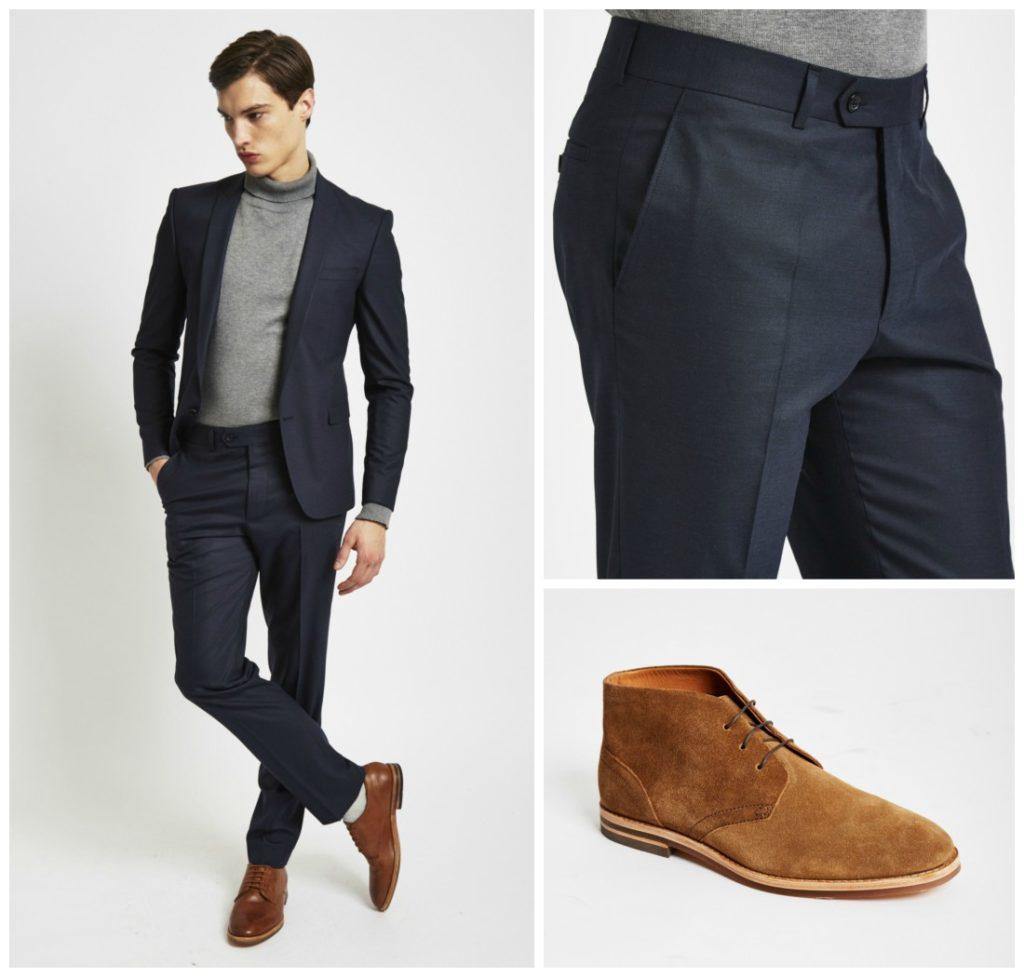 зауженные черные мужские брюки
