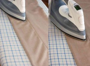 разглаживание стрелок на брюках