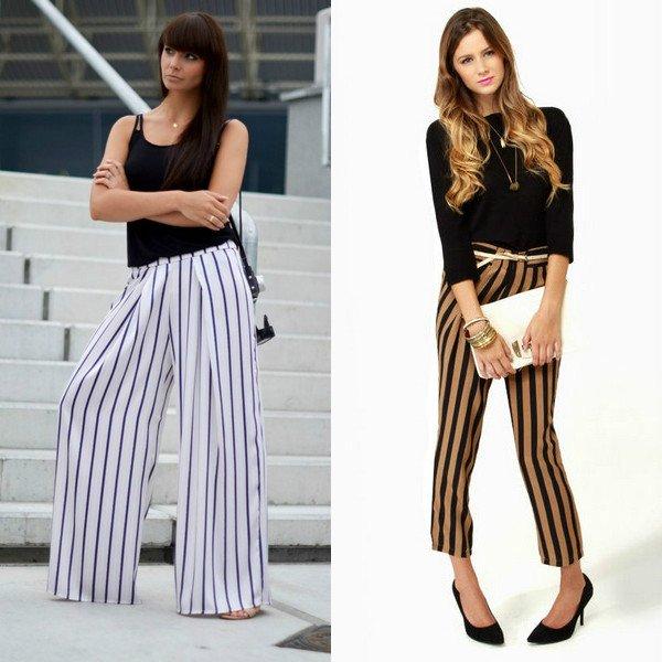 Создаём стильные и эффектные образы с брюками в полоску
