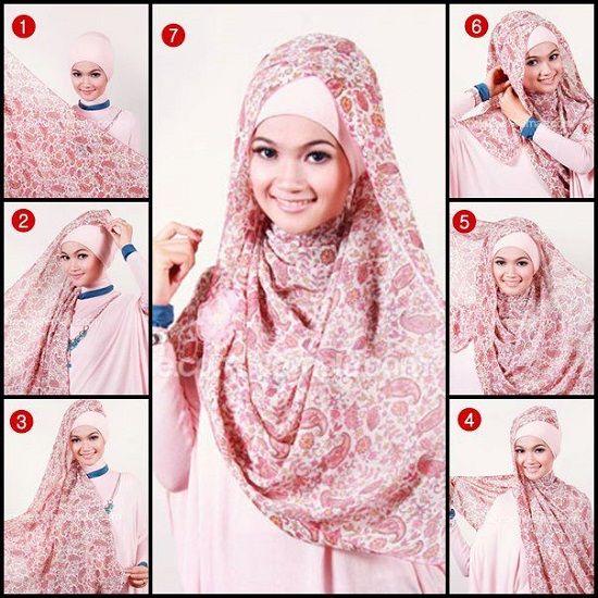 Способ завязывания хиджаба