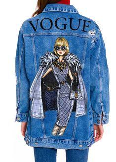 роспись на джинсовой куртке