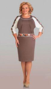 платье для полных с рукавом реглан