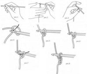 Как набирать петли крючком?