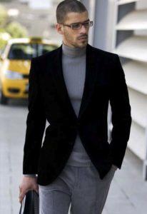 мужской бадлон с пиджаком