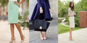 бежевые туфли с яркими платьями