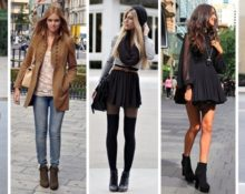 девушки в ботинках