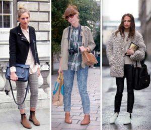 челси с брюками и джинсами