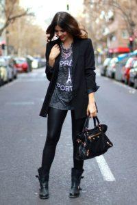 грубые ботинки с пиджаком