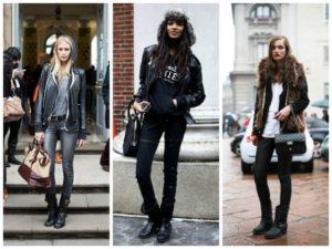 грубые ботинки с джинсами и брюками