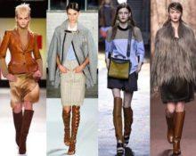 девушки в коричневых ботфортах