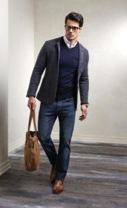 с чем носить коричневые мужские дерби