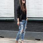 леопардовые туфли и джинсы