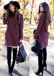 обувь и аксессуары к платью свитер