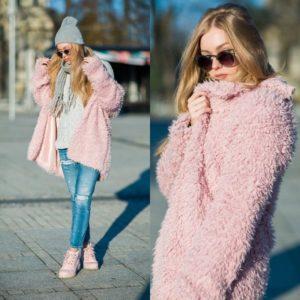 розовые ботинки с шубой