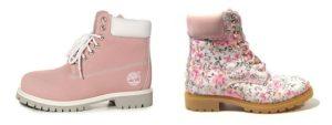 розовые ботинки в цветочек