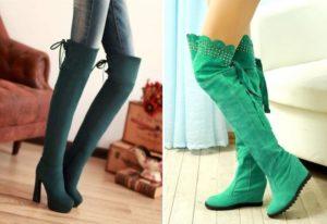 зеленые ботфорты