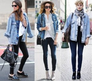 джинсовка с леггинсами
