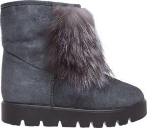 Тёплые серые ботинки