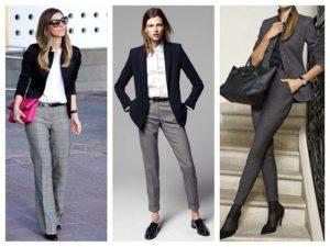 оттенки серых женских брюк