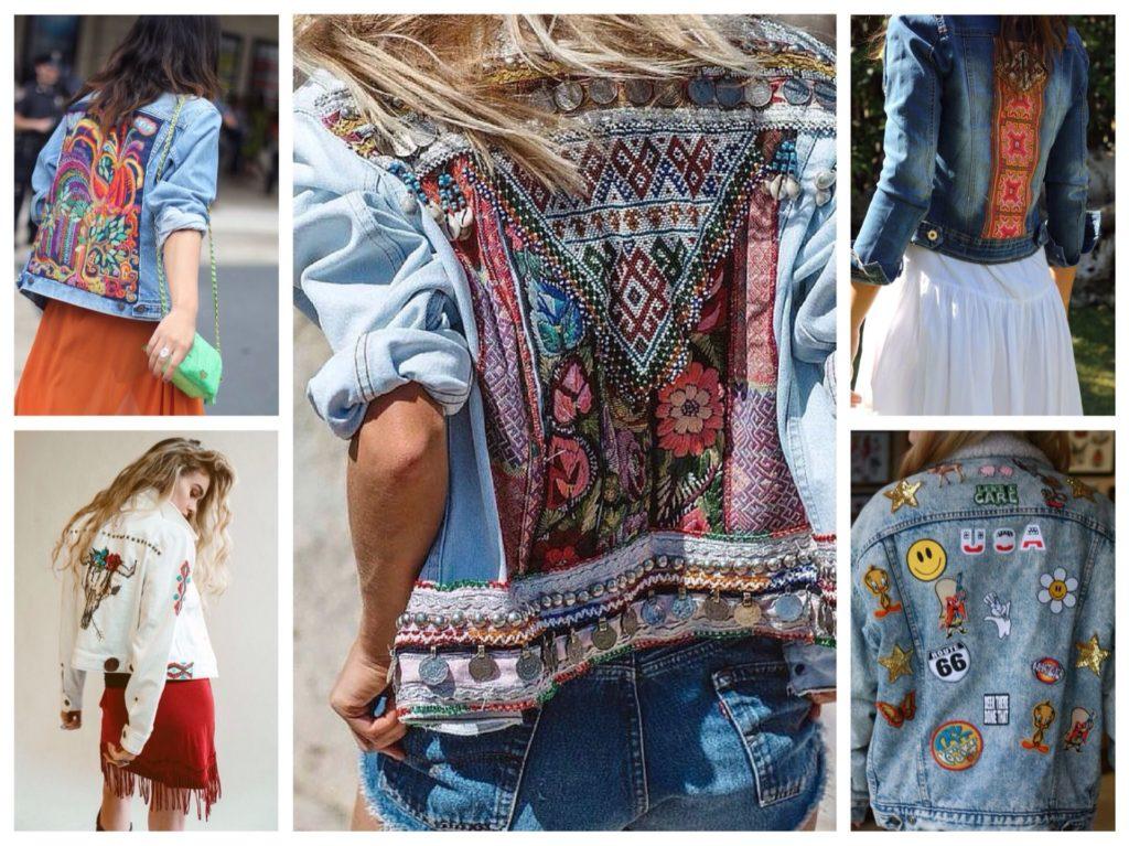 схема вышивки на джинсовой куртке