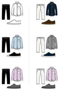 сочетание с тёмными и светлыми брюками