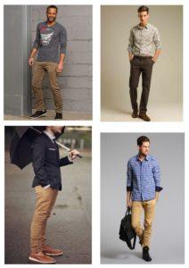 с коричневыми брюками