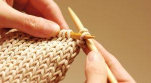 Вязание образца 10-15 см