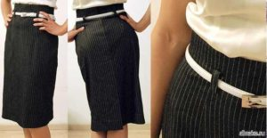 как из брюк сшить юбку