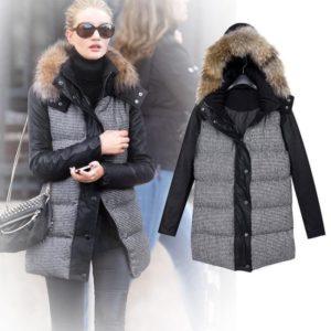 зимняя куртка с пухом и мехом