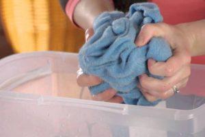 стирка свитера вручную