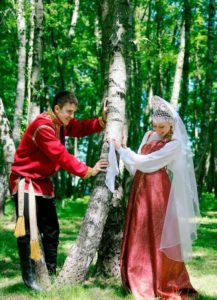 Свадебный русский сарафан